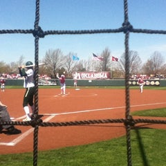 Photo taken at Marita Hynes Field at the OU Softball Complex by Sean B. on 4/6/2013