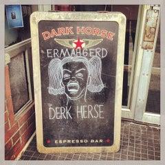 Photo taken at Dark Horse Espresso Bar by Sam L. on 4/13/2013
