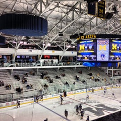 Photo taken at Yost Ice Arena by Brandon B. on 10/9/2012