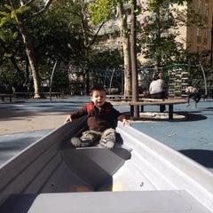 Photo taken at John Jay Playground by Debbie G. on 10/12/2014