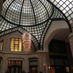 Photo taken at Four Seasons Hotel Gresham Palace Budapest by Tim S. on 3/23/2013
