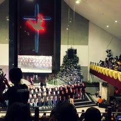Photo taken at Gereja Allah Baik Pusat by 신지혜 (. on 12/24/2013