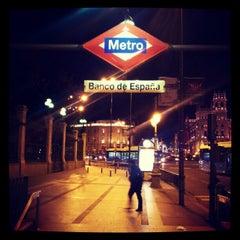 Photo taken at Metro Banco de España by Valentí P. on 2/8/2013