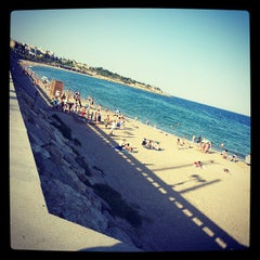 Photo taken at Platja del Miracle by Valentí P. on 6/16/2013