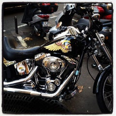 Photo taken at Hells Angels Paris by Clemence H. on 10/25/2012