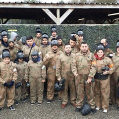 Photo taken at Delta Force Paintball - Upminster by Oz Blindson on 2/23/2014