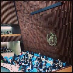 Photo taken at World Health Organization - Main Building by Karoline L. on 5/29/2013