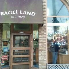 Photo taken at Bagel Land by Aaron J. on 2/4/2013
