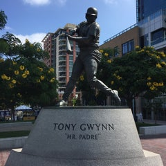 Photo taken at Tony Gwynn Statue by Michael M. on 7/15/2015
