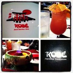 Photo taken at Kobe Japanese Steakhouse & Sushi Bar by Kaley S. on 4/20/2013