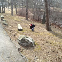 Photo taken at Meshanticut Park by Christy W. on 3/18/2013