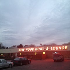 Photo taken at New Hope Bowl & Lounge by Austin W. on 11/2/2012
