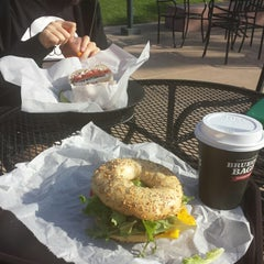 Photo taken at Bruegger's by Julia P. on 4/5/2015