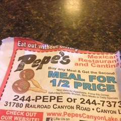 Photo taken at Pepe's Mexican Restaurant  & Cantina by Payton B. on 3/17/2014