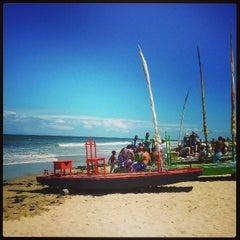 Photo taken at Praia do Pina by Fernando C. on 3/23/2013