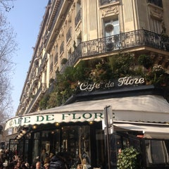 Photo taken at Café de Flore by Daria Z. on 3/7/2013