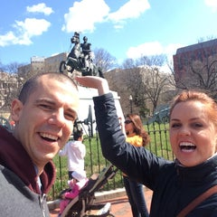 Photo taken at Andrew Jackson Statue by Paul M. on 4/4/2015
