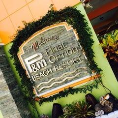 Photo taken at P&M Final Option Beach Resort & German Bistro by Rea R. on 10/24/2014