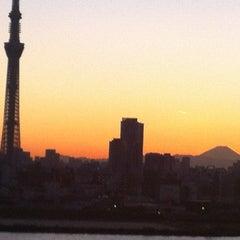 Photo taken at 四つ木橋 by Masaaki K. on 11/16/2012