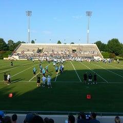 Photo taken at Gibbs Stadium by Matt C. on 7/26/2013