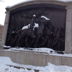 Photo taken at Robert Gould Shaw Memorial by Evelyn C. on 2/8/2014