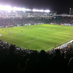 Photo taken at Estadio León by Qbito d. on 1/23/2013