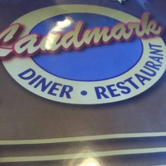 Photo taken at Landmark Diner by Brad R. on 1/1/2013