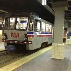 Photo taken at RTA Tower City - Public Square Rapid Station by Julian K. on 2/9/2013
