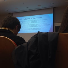Photo taken at Tepper School of Business by Doyeon L. on 12/5/2013