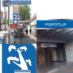 Photo taken at Metro Popotla (Línea 2) by Juristas UNAM on 8/24/2013