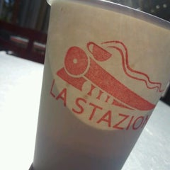 Photo taken at La Stazione Coffee & Wine Bar by Vincent H. on 10/28/2012