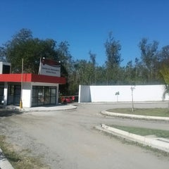 Photo taken at Ninho do Urubu (CT do Flamengo) by Tiago W. on 8/7/2014