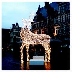 Photo taken at Sint-Veerleplein by Els V. on 12/27/2012