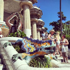 Photo taken at Park Güell by Juanma on 7/6/2013
