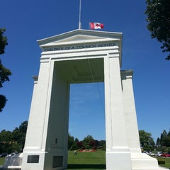 Photo taken at Peace Arch Border Crossing by Johnathon F. on 7/6/2013