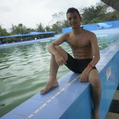 Photo taken at Hairos Indah Waterpark by Egi Tyo K. on 1/5/2014