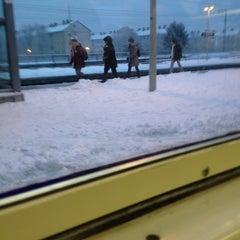 Photo taken at Bahnhof Frankfurt-Niederrad by Erik on 1/21/2013