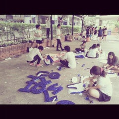 Photo taken at มหาวิทยาลัยหอการค้าไทย (UTCC) University of the Thai Chamber of Commerce by Jackz I. on 11/22/2012