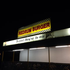 Photo taken at Redrum Burger by Alex S. on 9/27/2014