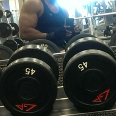 Photo taken at LA Fitness by Brent R. on 4/11/2014