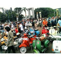Photo taken at Patung Panahan Senayan by J F. on 5/18/2013