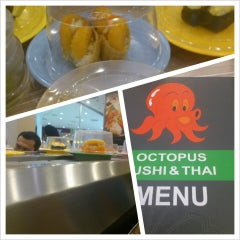 Photo taken at Octopus Sushi Bar & Thai by tammy on 3/6/2013