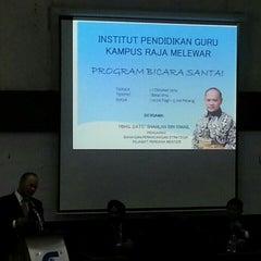 Photo taken at Balai Ilmu IPG Raja Melewar by Clarissa L. on 10/1/2014