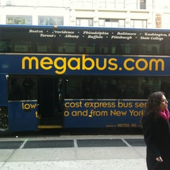 Photo taken at Mega Bus - 7th Ave & 27th St by Jay M. on 1/20/2013
