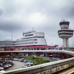 Photo taken at Flughafen Berlin-Tegel Otto Lilienthal by Tom N. on 5/8/2013