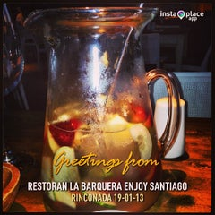 Photo taken at Restoran La Barquera Enjoy Santiago by Jonathan J. on 1/20/2013
