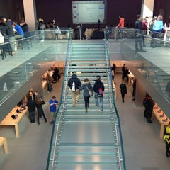 Photo taken at Apple Store, SoHo by Johan P. on 4/3/2013