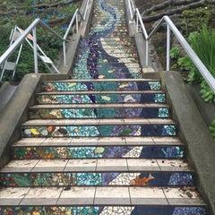 Photo taken at Hidden Garden Mosaic Steps by Roxa C. on 1/18/2016