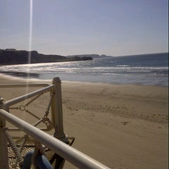 Photo taken at Playa de Salinas / San Juan de Nieva by Marta G. on 6/4/2013