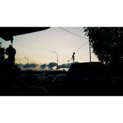Photo taken at Jalan Tol Dalam Kota by Ayu Mulya A. on 4/10/2015